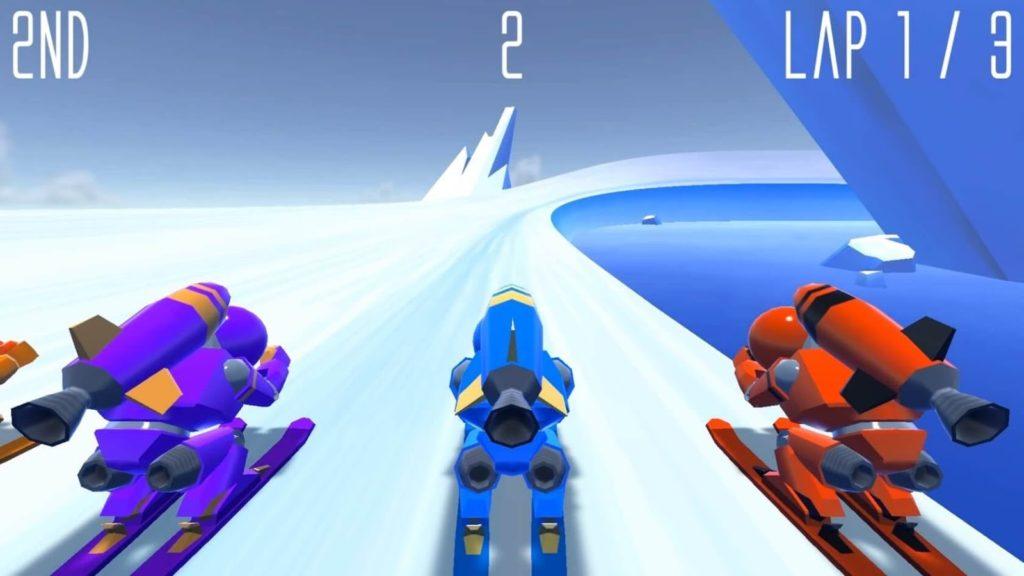 لعبة اندرويد جديدة Rocket Ski Racing 2016