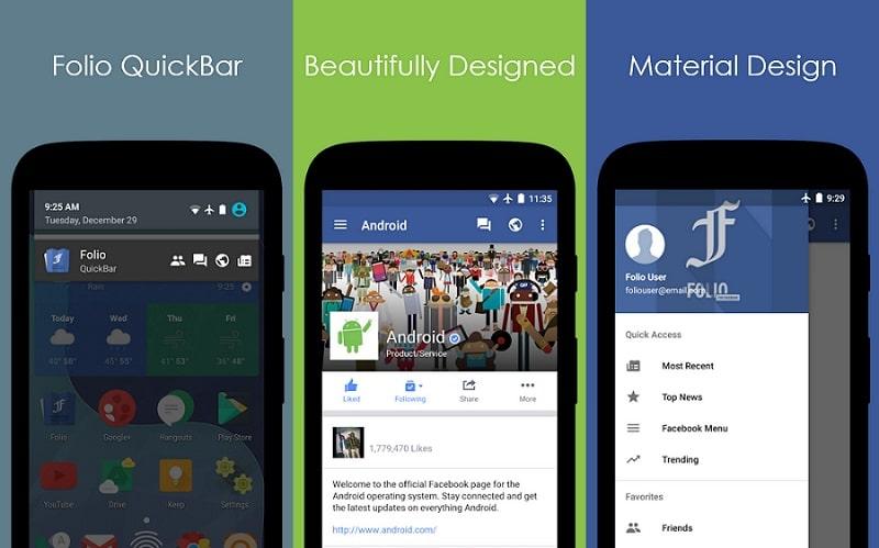 تطبيق Folio for Facebook على الاندرويد