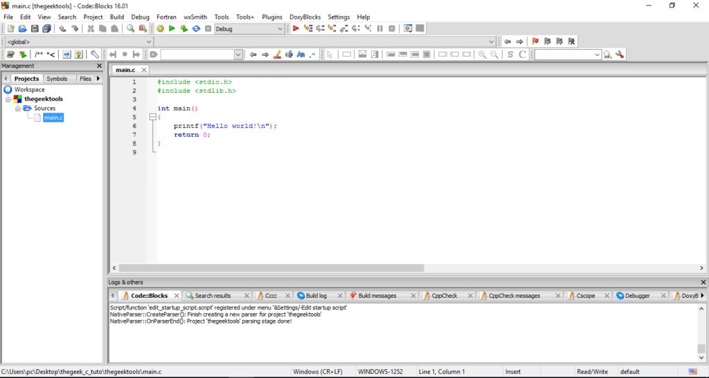 تعلم البرمجة بلغة C للمبتدئين : 2 الادوات اللازمة للبرمجة مع الشرح